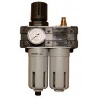 Filtration, régulation, et lubrification du réseau d'air