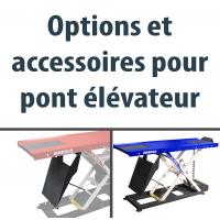 OPTIONS ET ACCESSOIRES POUR PONT ELEVATEUR