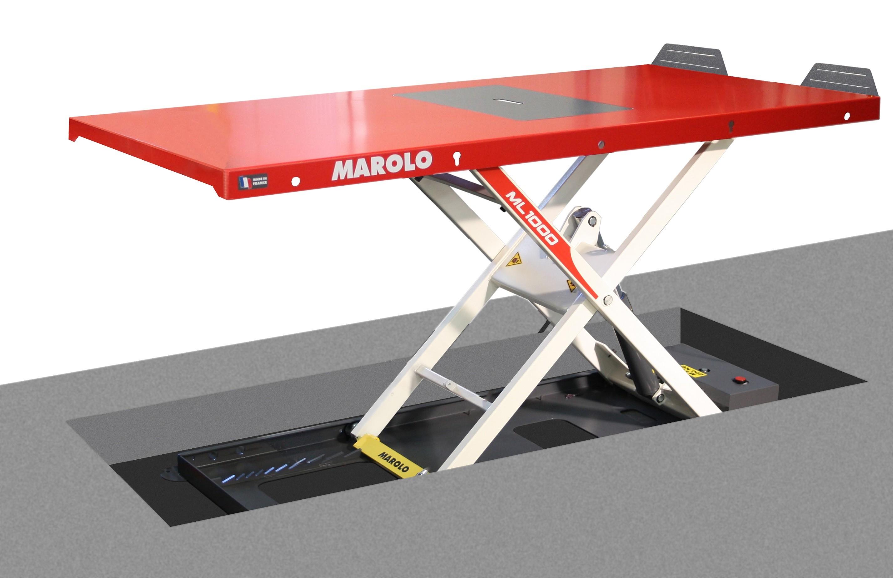 Marolotest table marololift 1200 hae hydraulique - Table verin hydraulique ...
