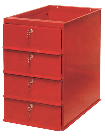 Bloc 4 tiroirs d'établi