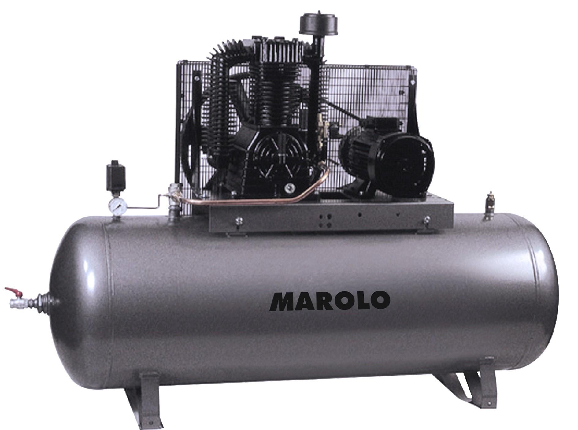 Marolotest compresseur 500 litres monocylindre bi tage triphas 380 v 7 5 cv - Compresseur 500 litres ...