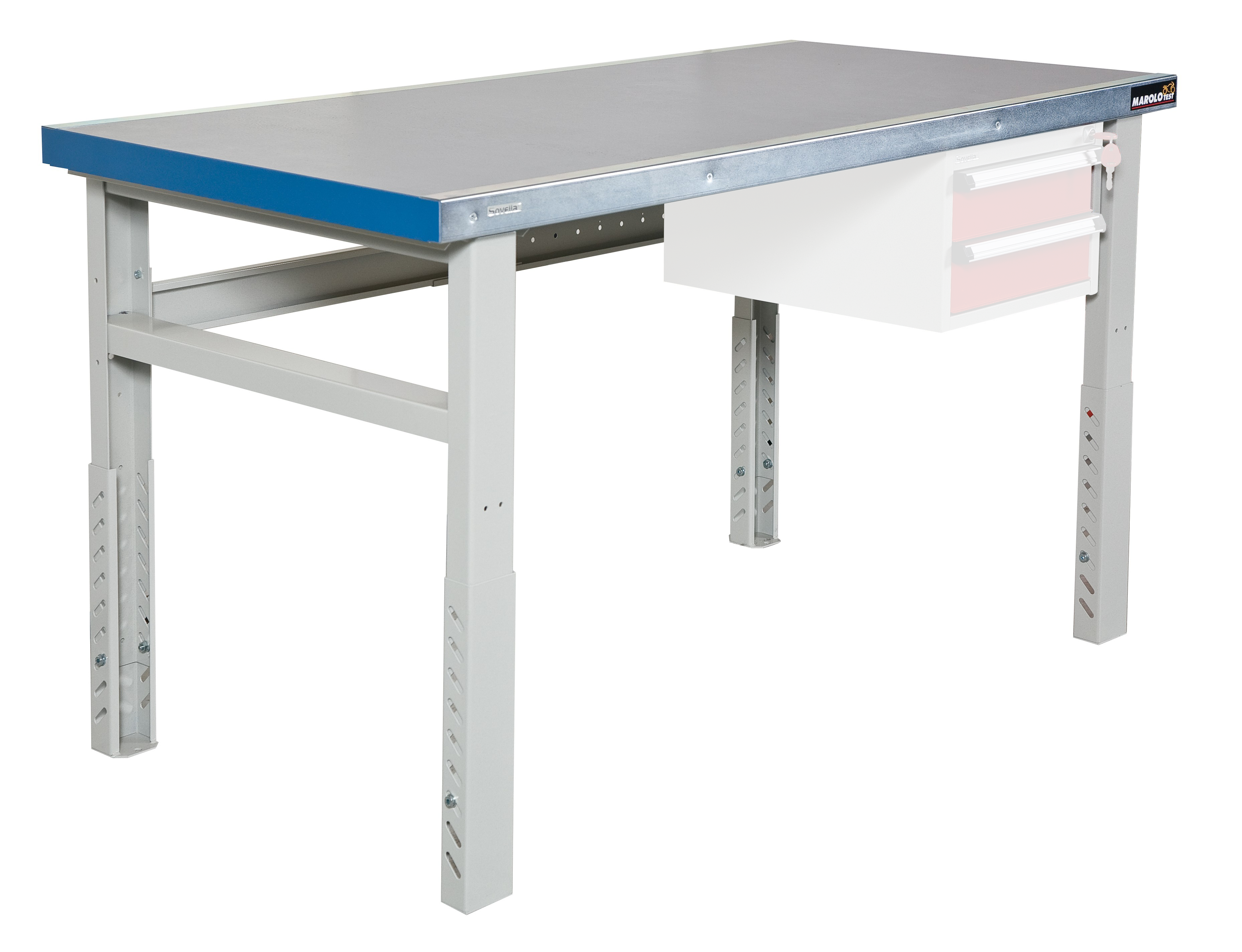 Marolotest etabli bois m seul r glable en hauteur - Fabriquer une table haute de cuisine ...