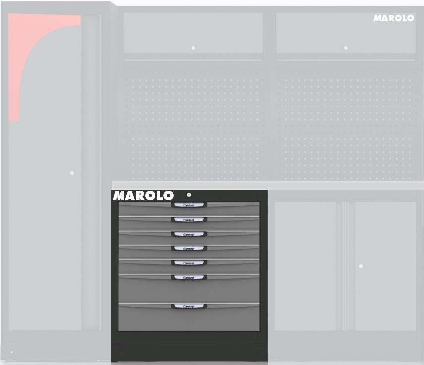 meuble bas 7 tiroirs 861