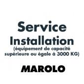 Installation de votre équipement supérieur à 3000 Kg