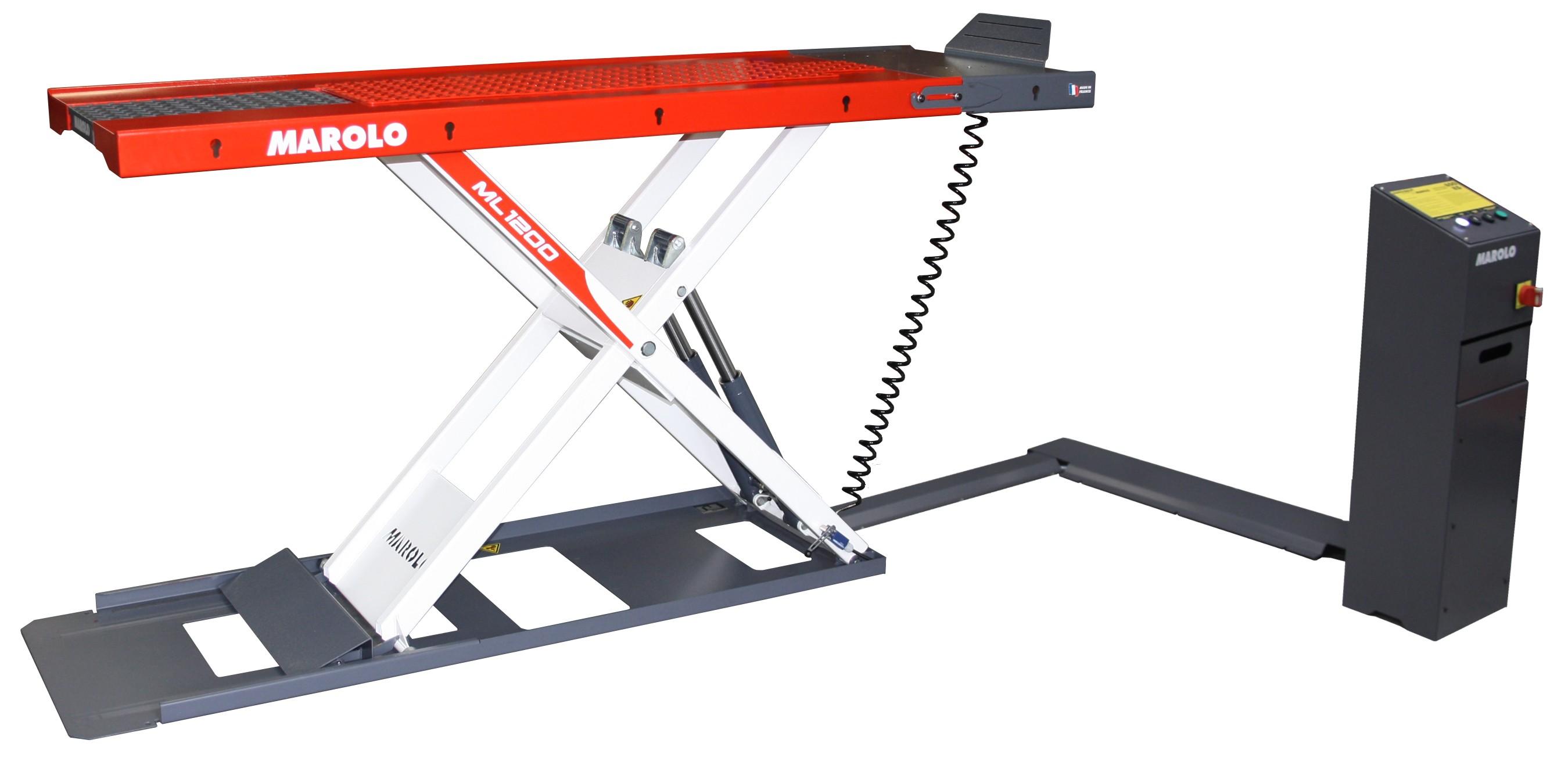 Marolotest lift extra flat marolowlift 1200 w electro for Table elevatrice