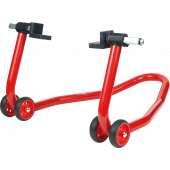 Width-adjustable rear stand (support rubber and V)