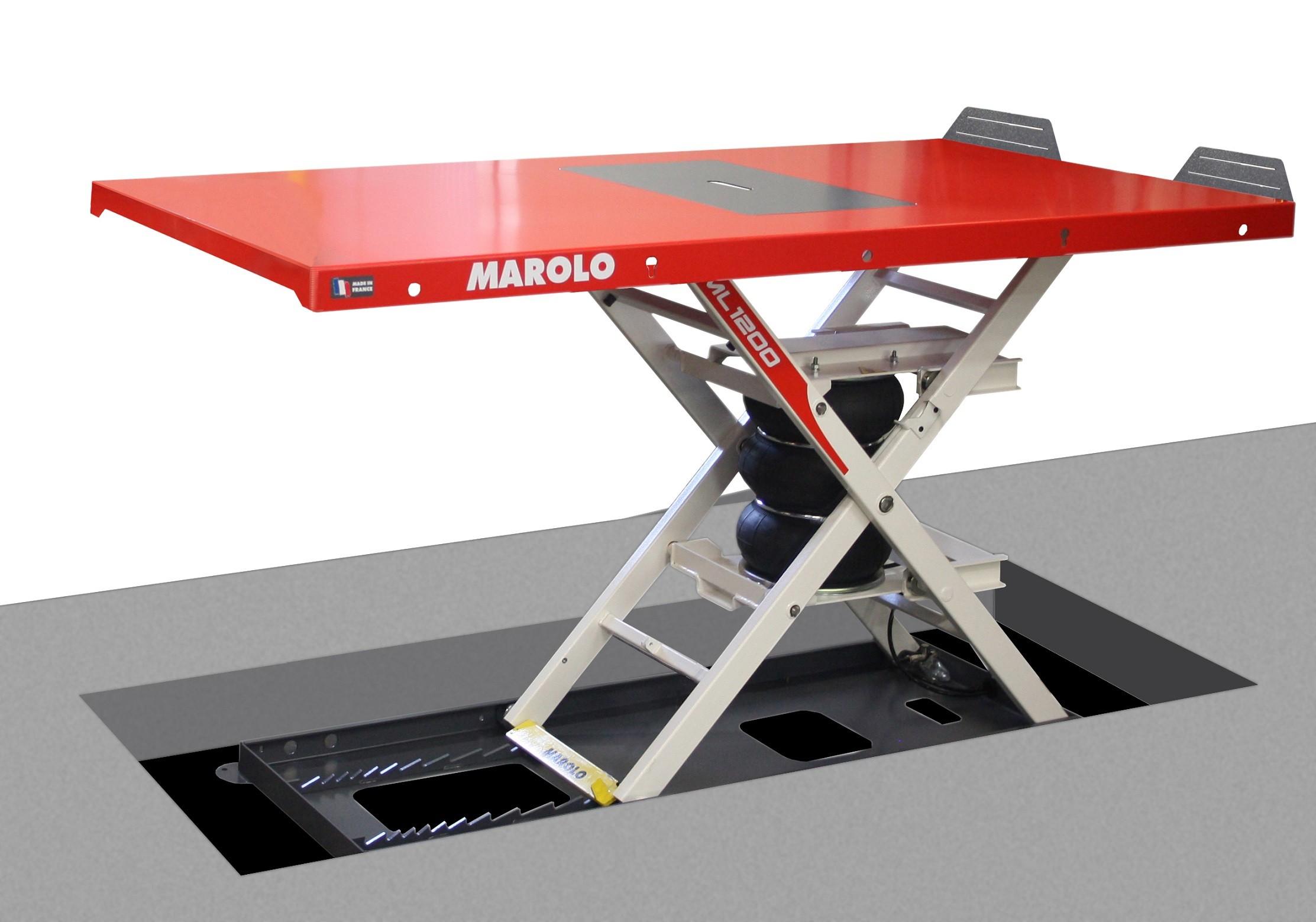Table Marololift motoculture 1200 PA encastrée